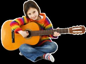 Gitar çalan öğrenciler