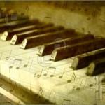 Piyano tuşları ve müzik notaları
